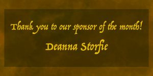 Thanks to our Patreon Sponsor of the Month Deanna Storfie